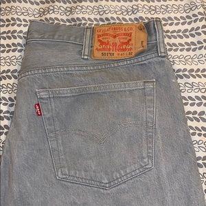 Gray 501 Levi Jeans